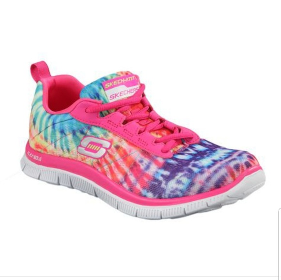 skechers multi colored running shoes